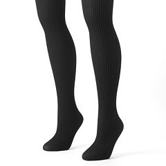 MUK LUKS 2-pk. Ribbed Microfiber Tights
