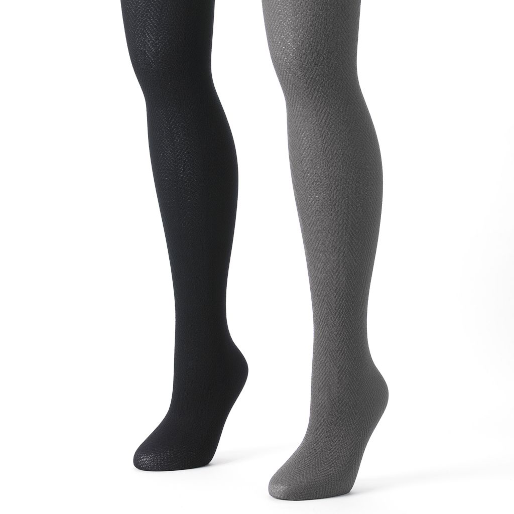 MUK LUKS 2-pk. Herringbone Tights