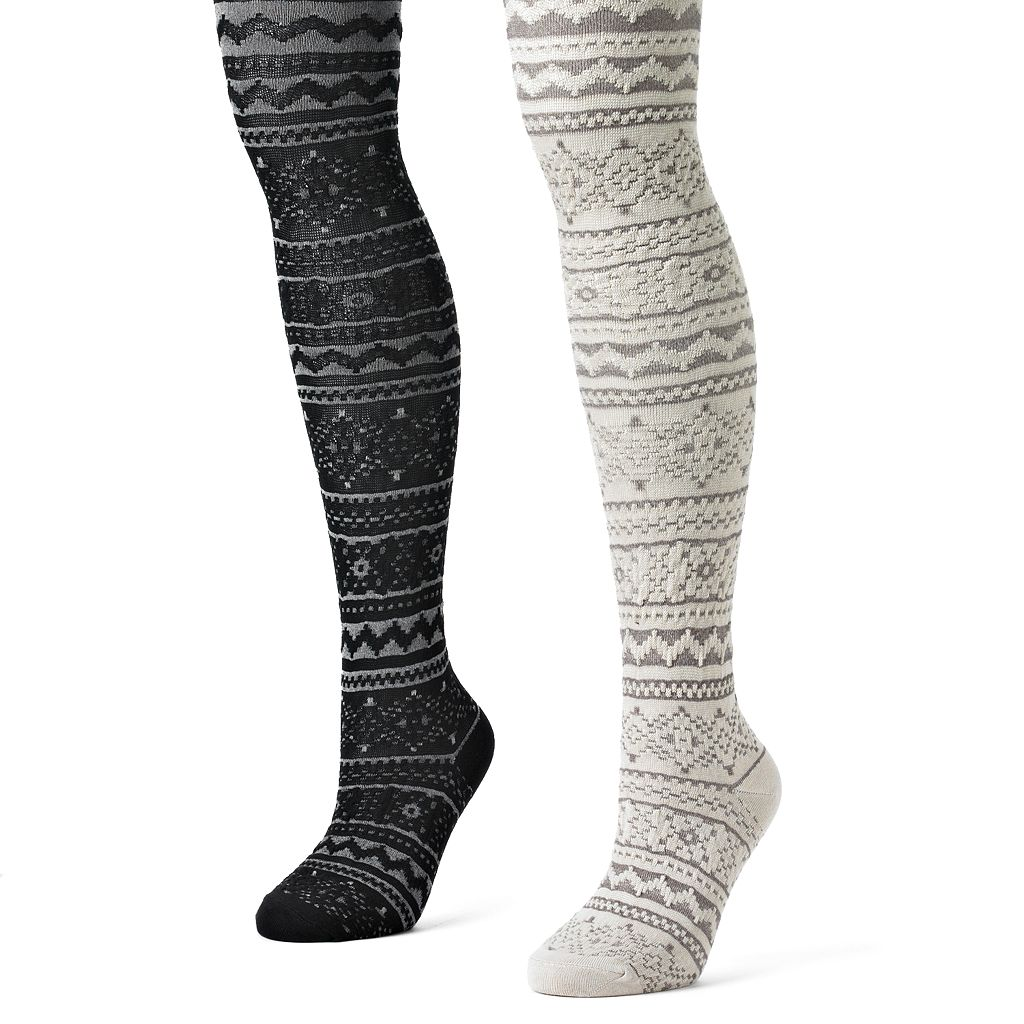 MUK LUKS 2-pk. Pattern Tights