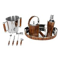 Safavieh 9-pc. Bamboo Bartender Set
