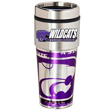 Kansas State Wildcats Stainless Steel Metallic Travel Tumbler