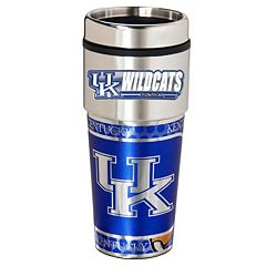 Kentucky Wildcats Stainless Steel Metallic Travel Tumbler