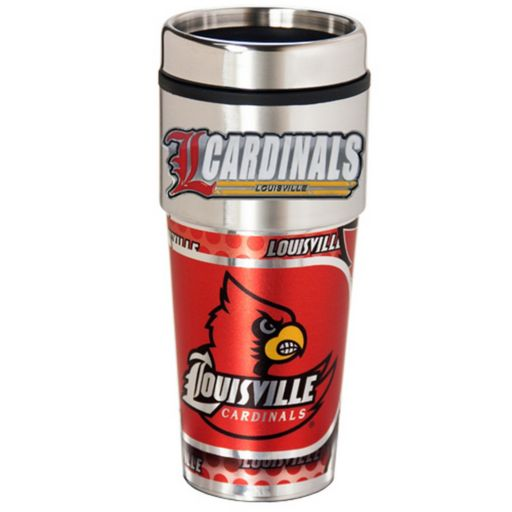 Louisville Cardinals Stainless Steel Metallic Travel Tumbler