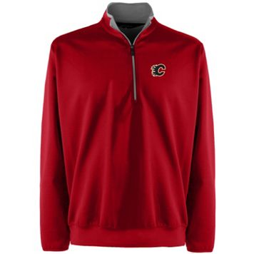Men's Calgary Flames 1/4-Zip Leader Pullover