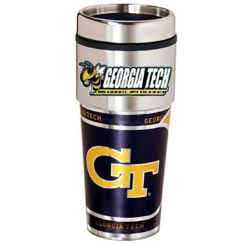 Georgia Tech Yellow Jackets Stainless Steel Metallic Travel Tumbler