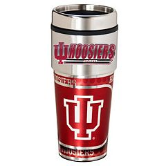Indiana Hoosiers Stainless Steel Metallic Travel Tumbler