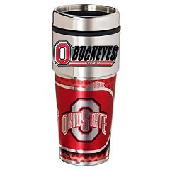 Ohio State Buckeyes Stainless Steel Metallic Travel Tumbler