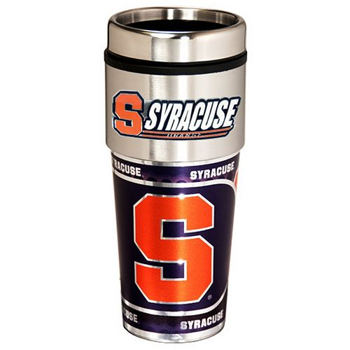Syracuse Orange Stainless Steel Metallic Travel Tumbler