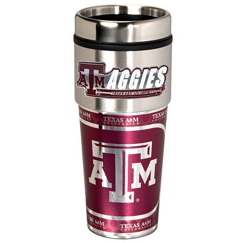 Texas A&M Aggies Stainless Steel Metallic Travel Tumbler
