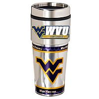 West Virginia Mountaineers Stainless Steel Metallic Travel Tumbler