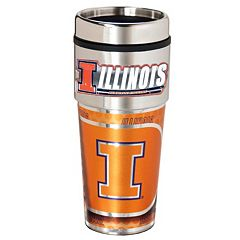 Illinois Fighting Illini Stainless Steel Metallic Travel Tumbler