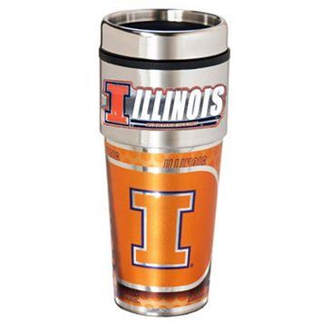 Illinois Fighting Illini Stainless Steel Metallic Travel Tumbler