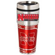 Nebraska Cornhuskers Stainless Steel Metallic Travel Tumbler