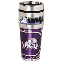 TCU Horned Frogs Stainless Steel Metallic Travel Tumbler