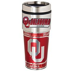 Oklahoma Sooners Stainless Steel Metallic Travel Tumbler