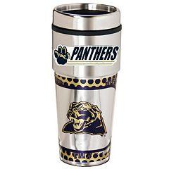 Pitt Panthers Stainless Steel Metallic Travel Tumbler