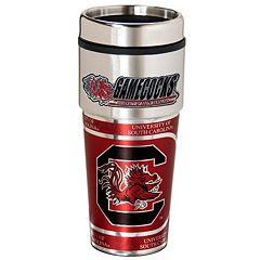 South Carolina Gamecocks Stainless Steel Metallic Travel Tumbler
