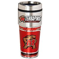 Maryland Terrapins Stainless Steel Metallic Travel Tumbler