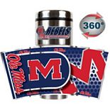 Ole Miss Rebels Stainless Steel Metallic Travel Tumbler