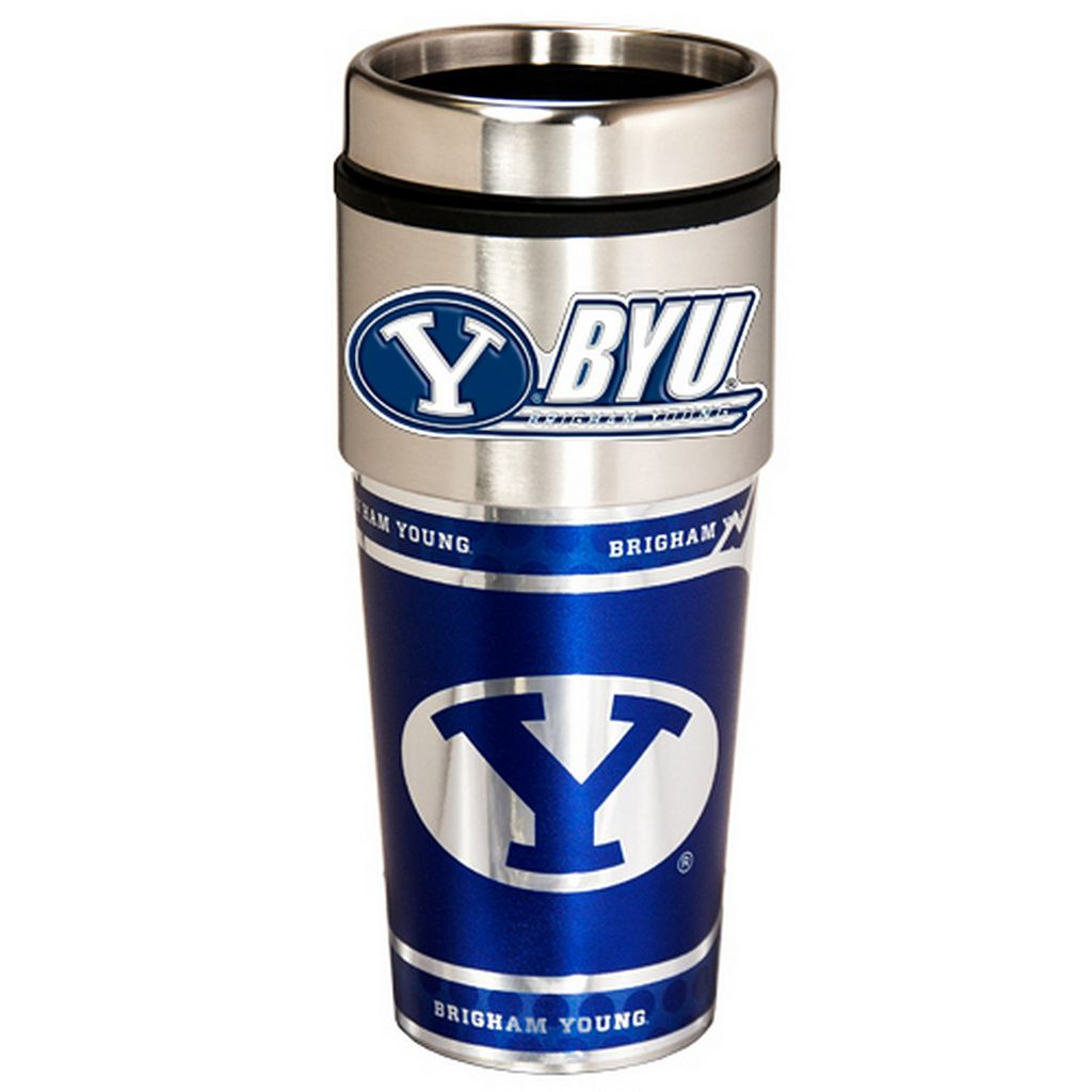BYU Cougars Stainless Steel Metallic Travel Tumbler
