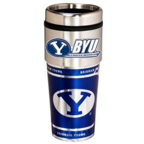 BYU Cougars Stainless Steel Metallic Travel Tumbler