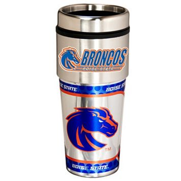 Boise State Broncos Stainless Steel Metallic Travel Tumbler