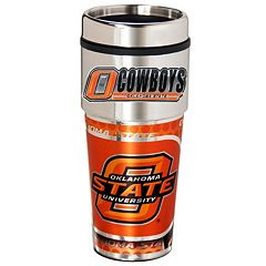 Oklahoma State Cowboys Stainless Steel Metallic Travel Tumbler