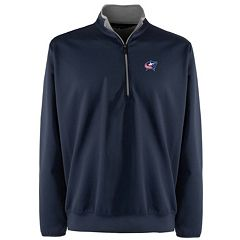 Men's Columbus Blue Jackets 1/4-Zip Leader Pullover