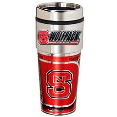 North Carolina State Wolfpack Stainless Steel Metallic Travel Tumbler