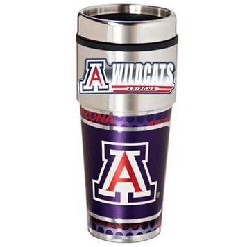 Arizona Wildcats Stainless Steel Metallic Travel Tumbler