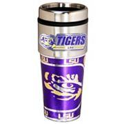 LSU Tigers Stainless Steel Metallic Travel Tumbler