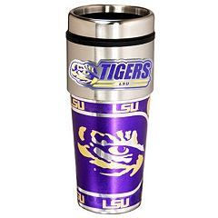 LSU Tigers Stainless Steel Metallic Travel Tumbler
