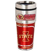 Iowa State Cyclones Stainless Steel Metallic Travel Tumbler