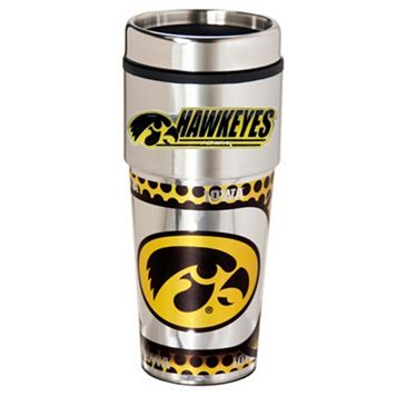 Iowa Hawkeyes Stainless Steel Metallic Travel Tumbler