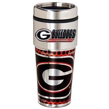 Georgia Bulldogs Stainless Steel Metallic Travel Tumbler
