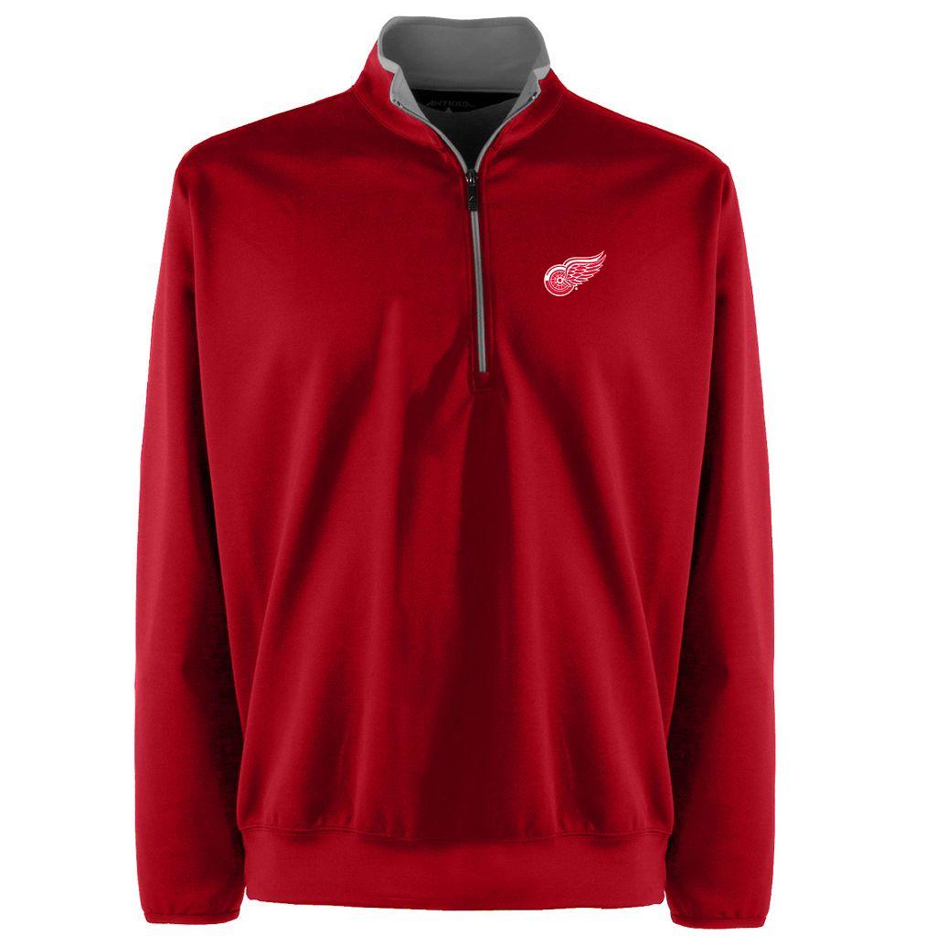 Men's Detroit Red Wings 1/4-Zip Leader Pullover