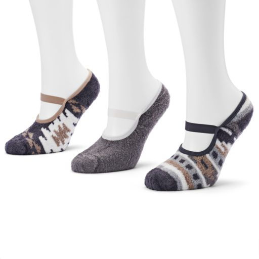 MUK LUKS 3-pk. Mary Jane Aloe Low-Cut Socks