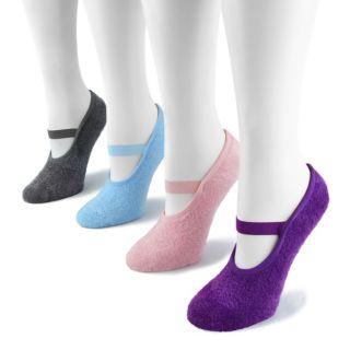 MUK LUKS 4-pk. Mary Jane Aloe Low-Cut Socks