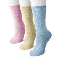 MUK LUKS 3-pk. Aloe Crew Socks