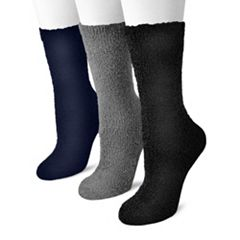 MUK LUKS 3 pkAloe Crew Socks