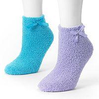 MUK LUKS 2 pkChenille Slipper Socks