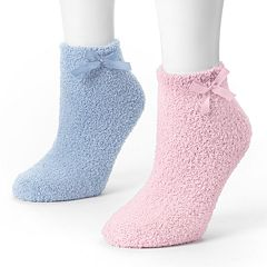 MUK LUKS 2 pkChenille Slipper Socks
