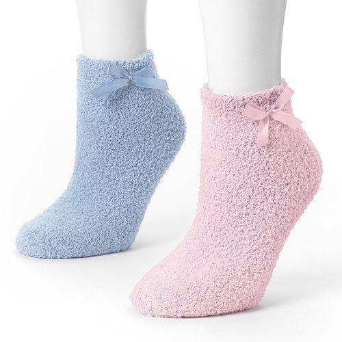 MUK LUKS 2-pk. Chenille Slipper Socks