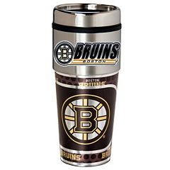 Boston Bruins Stainless Steel Metallic Travel Tumbler