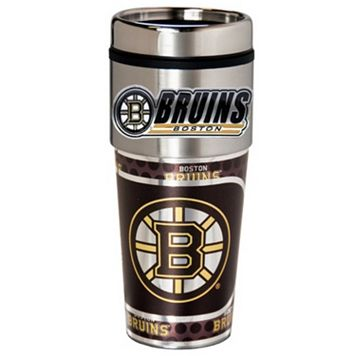 Boston Bruins Stainless Steel Metallic Travel Tumbler