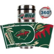 Minnesota Wild Stainless Steel Metallic Travel Tumbler