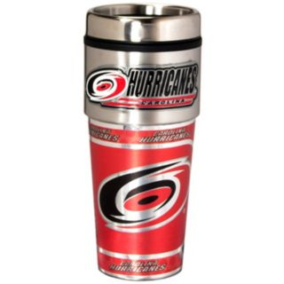 Carolina Hurricanes Stainless Steel Metallic Travel Tumbler