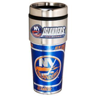 New York Islanders Stainless Steel Metallic Travel Tumbler