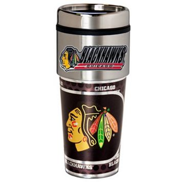 Chicago Blackhawks Stainless Steel Metallic Travel Tumbler