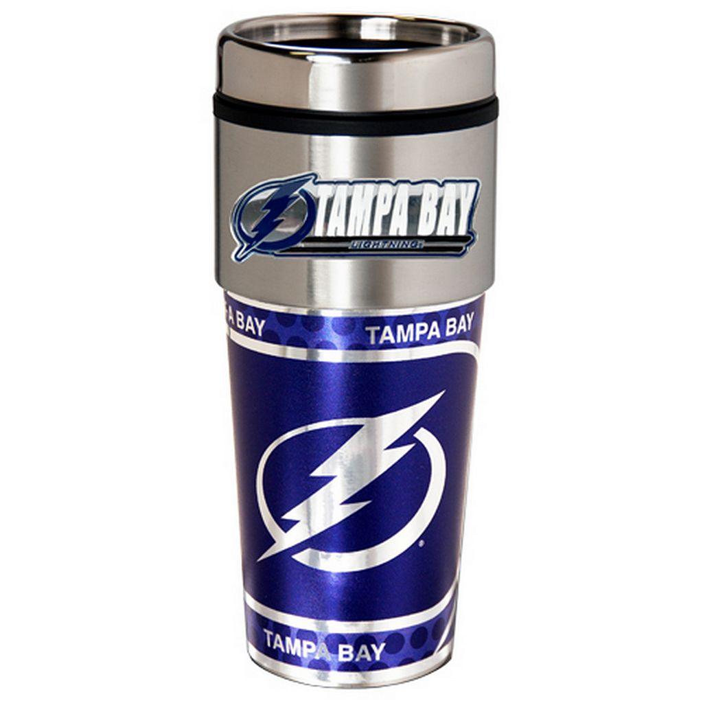 Tampa Bay Lightning Stainless Steel Metallic Travel Tumbler